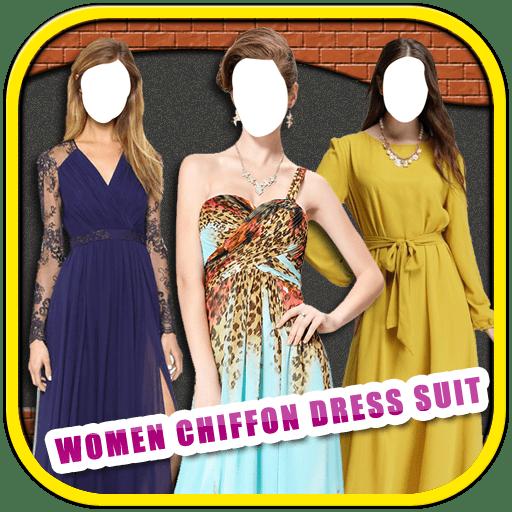 Women Chiffon Dress Suit