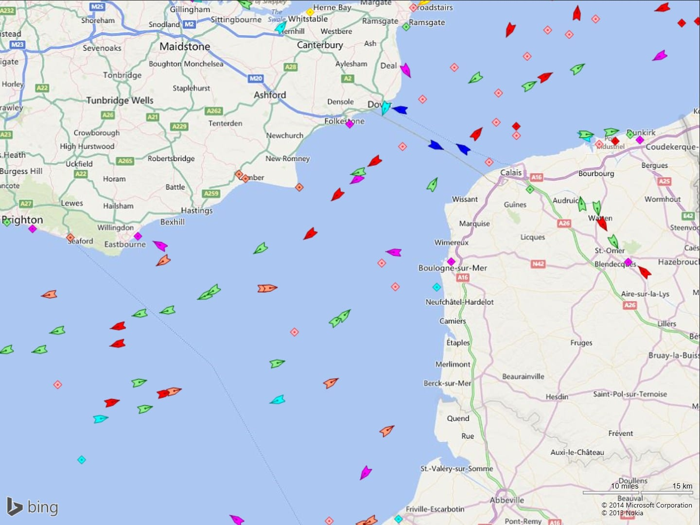 MarineTraffic ship positions
