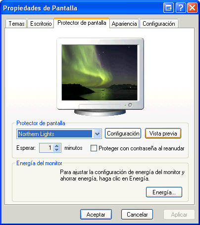 Great Northern Lights Screensaver
