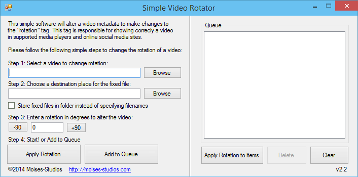 Simple Video Rotator
