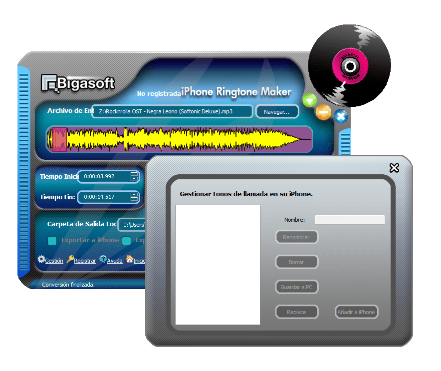 Bigasoft iPhone Ringtone Maker