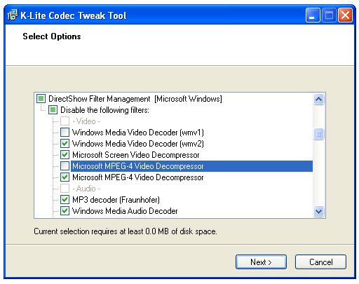 K-Lite Codec Tweak Tool