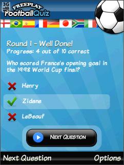 FreePlay Football Quiz
