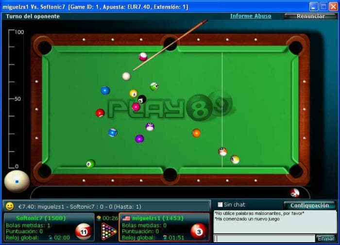 Billar Pool 8 y 9 Ball