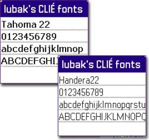 Sony CLIE HiRes Fonts
