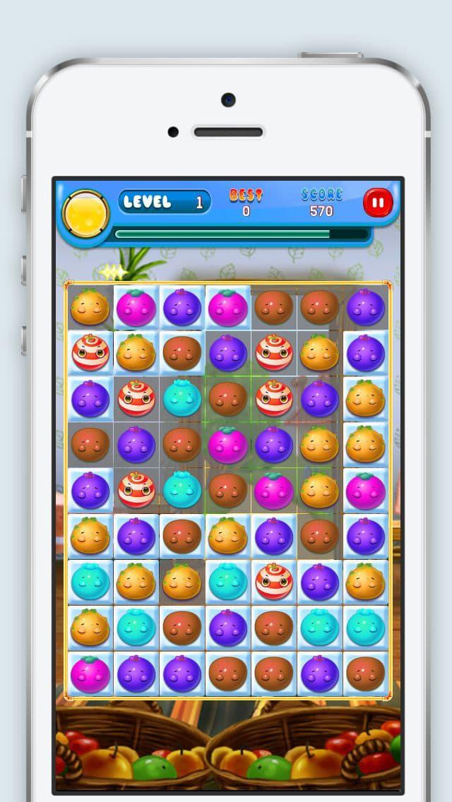 Trituradora de frutas - Match 3 Puzzle Fun Juego