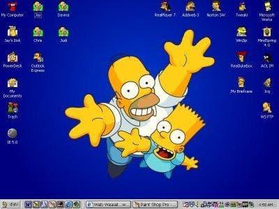 Homer e Bart Simpson