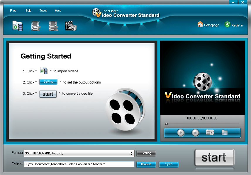 Tenorshare Free Video Converter