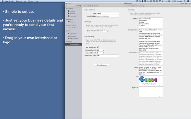 Easy Invoice   PDF Invoice Generator  Invoice Generator