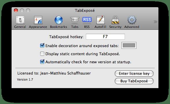 TabExposé
