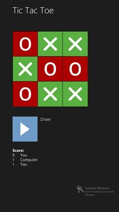 Simple Tic Tac Toe for Windows 10