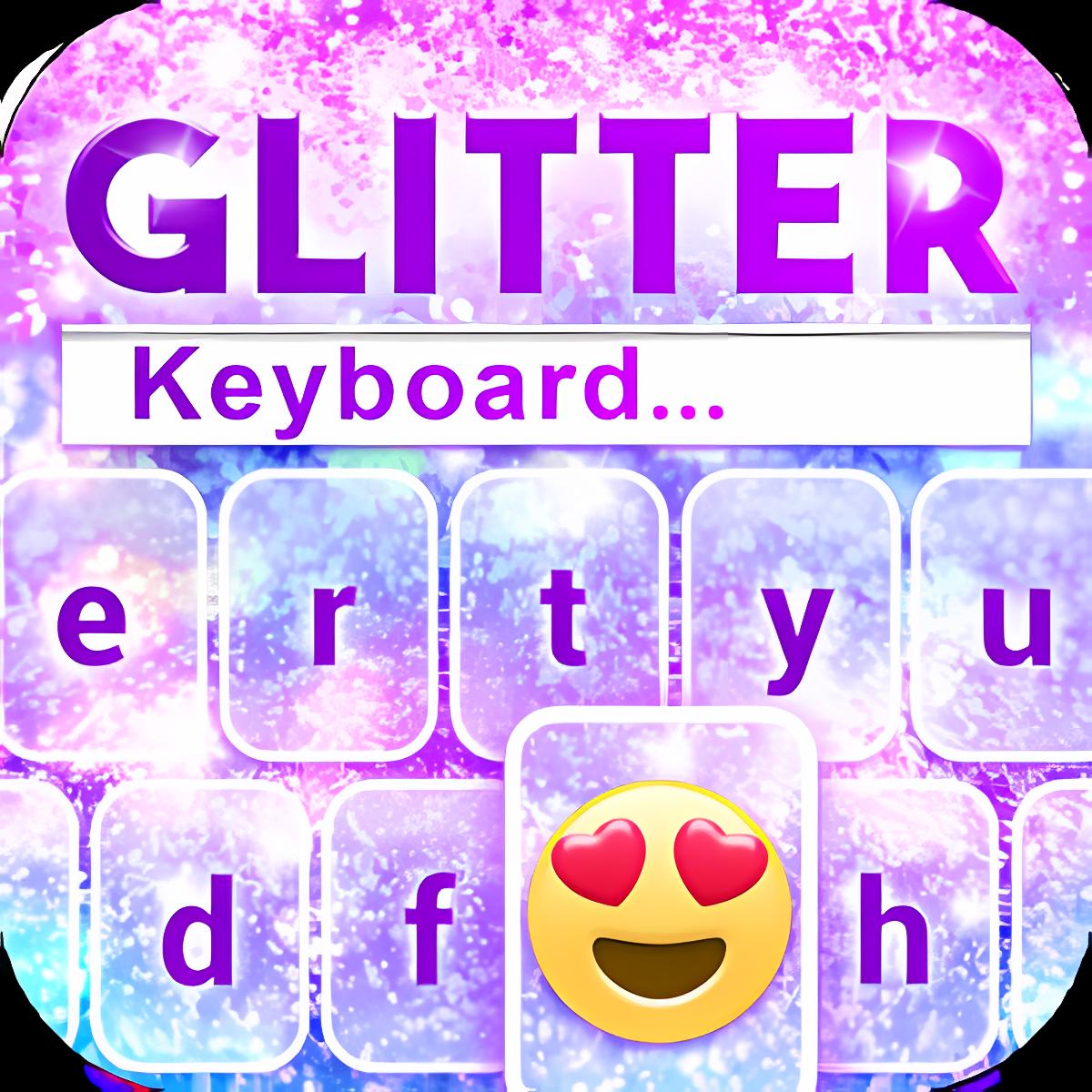 Glitter Emoji Keyboard Changer