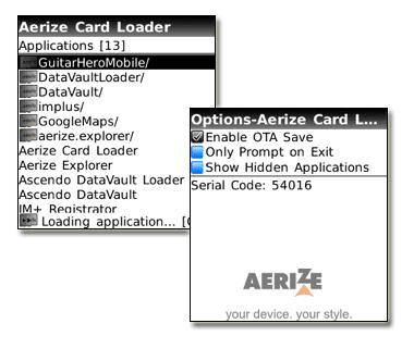 Aerize Card Loader