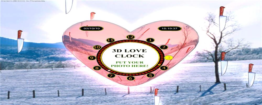 3D Love Clock