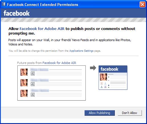 Facebook Desktop for AIR