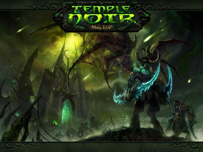 Fond d'écran World of Warcraft – Le temple noir
