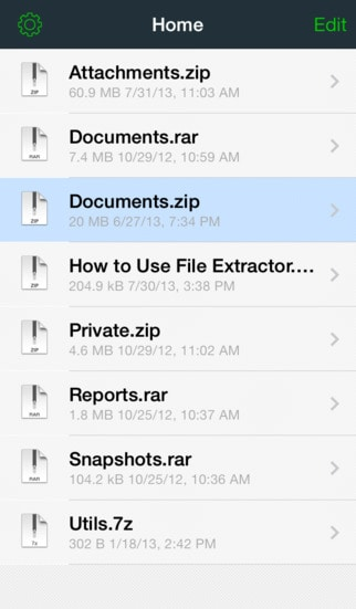 File Extractor for ZIP, RAR, 7-ZIP, and TAR archives