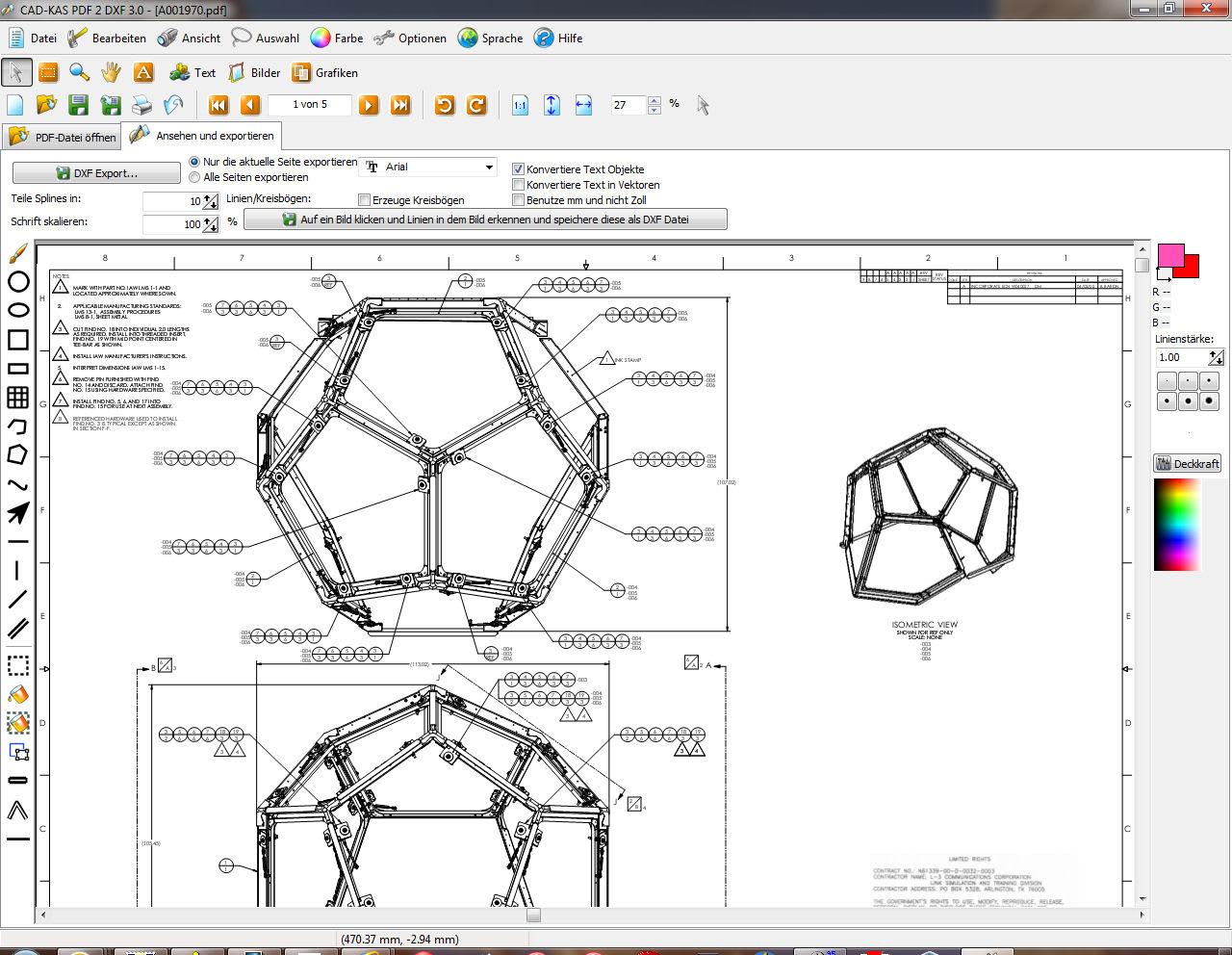 PDF zu DXF