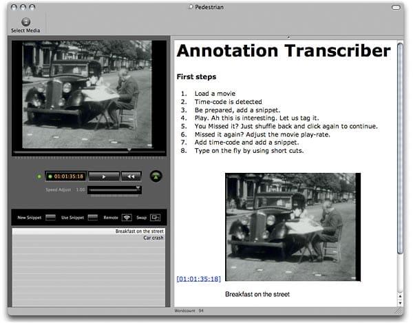 zeitAnker Annotation Transcriber