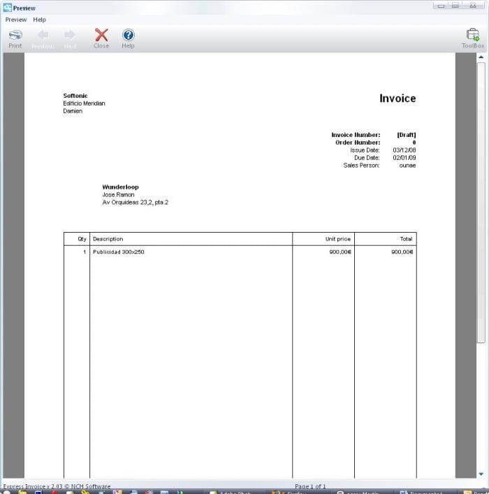 Express Invoice Free Edition Download - Copies of invoices for free
