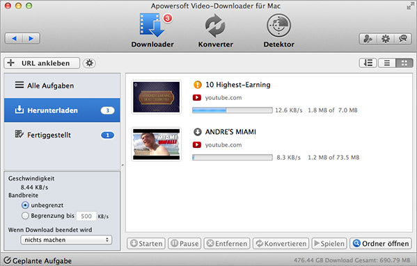 Apowersoft Video-Downloader für Mac