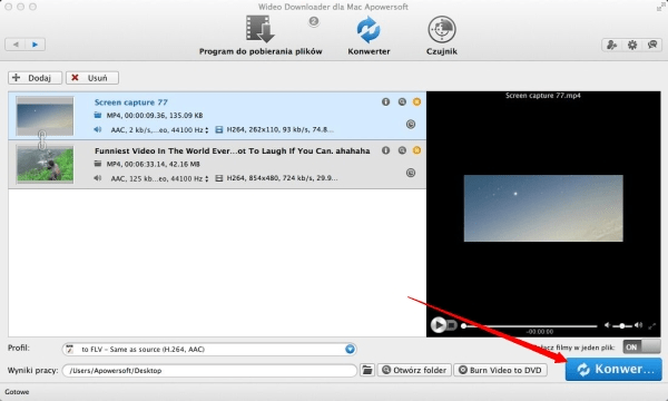 Wideo Downloader dla Mac Apowersoft