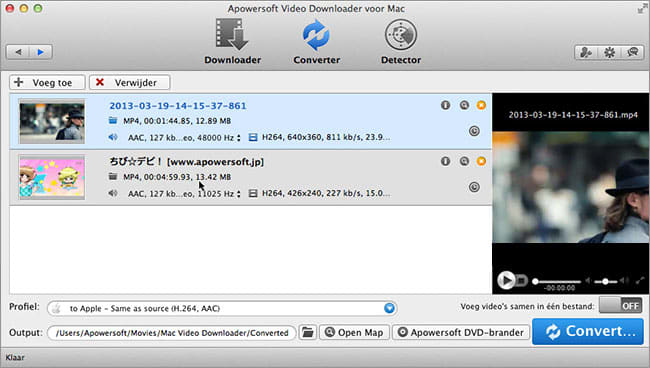 Apowersoft Video Downloader voor Mac