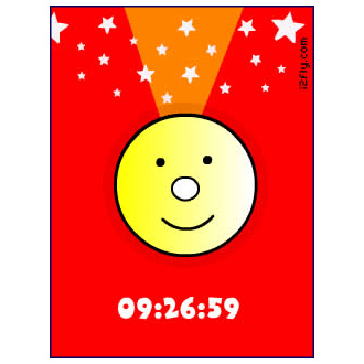 Cute smiley clock