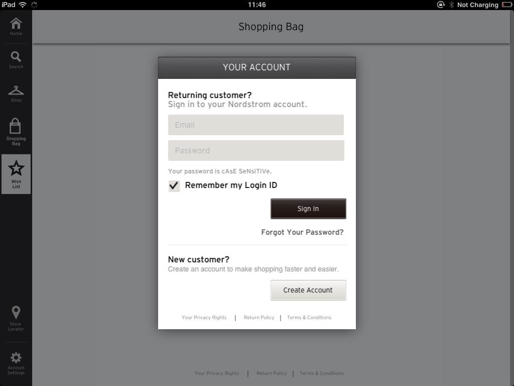 Shop customer account create downloader/downloader -  Download Nordstrom For Ipad It S Basically A Magazine App Giving You Access To The Website A Handful Of Catalogs Store Locator And Account Only