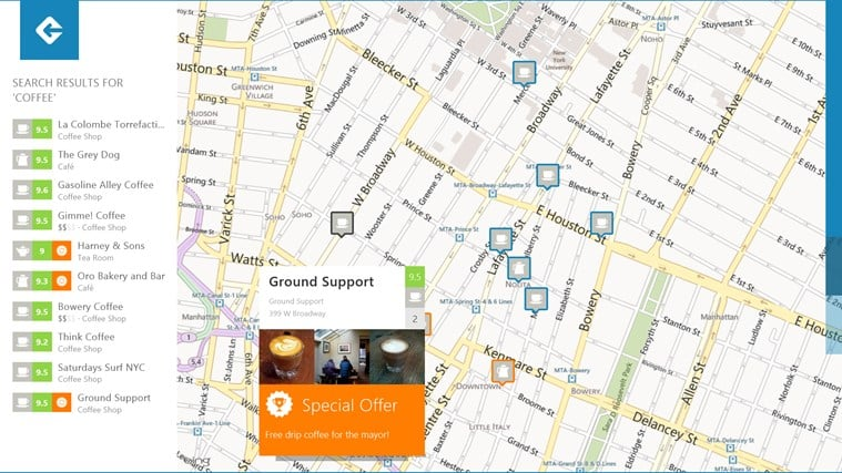 Foursquare for Windows 10