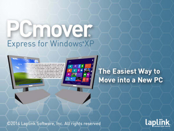 PCmover Express voor Windows XP