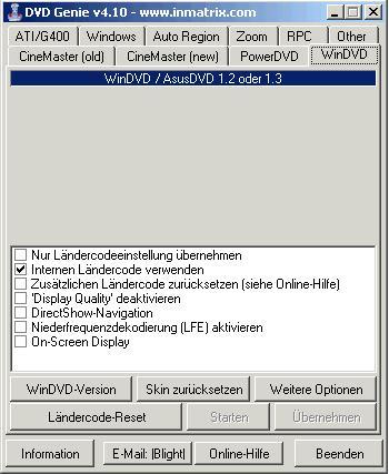DVD Genie Sprachdatei Deutsch