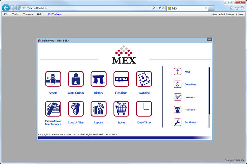 MEX Maintenance Software