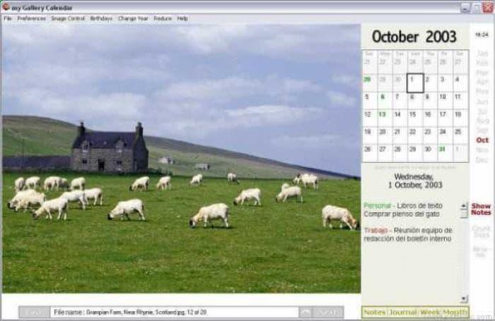 my Gallery Calendar