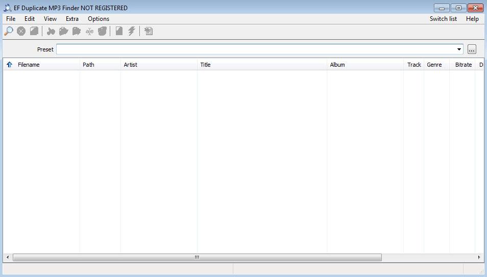 EF Duplicate MP3 Finder