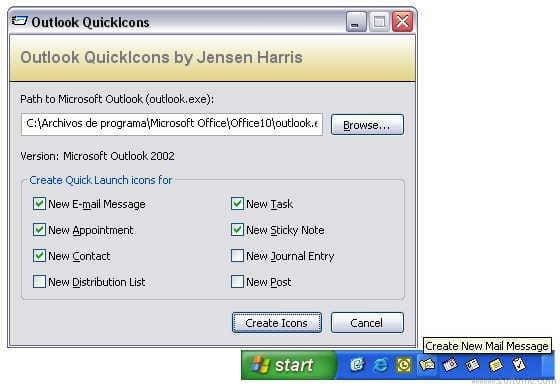 Outlook QuickIcons