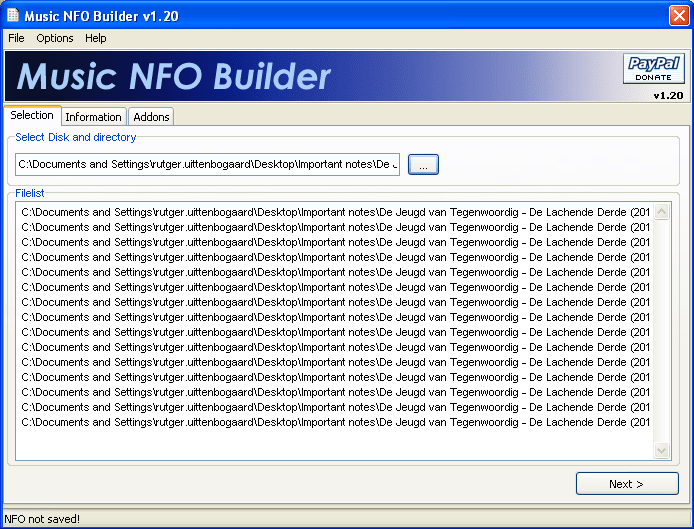 Music NFO Builder
