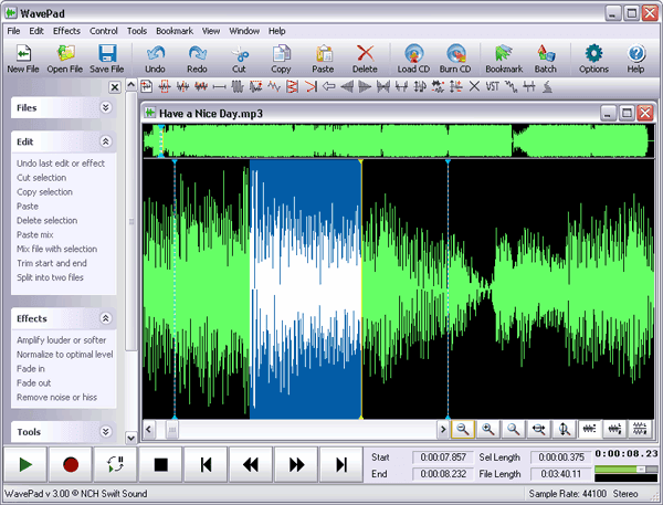 WavePad Audio Editing Software - Download