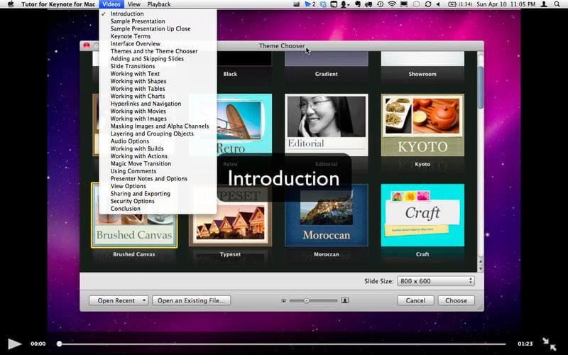 Tutor for Keynote 09