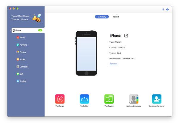 Tipard Mac iPhone Transfer Ultimate