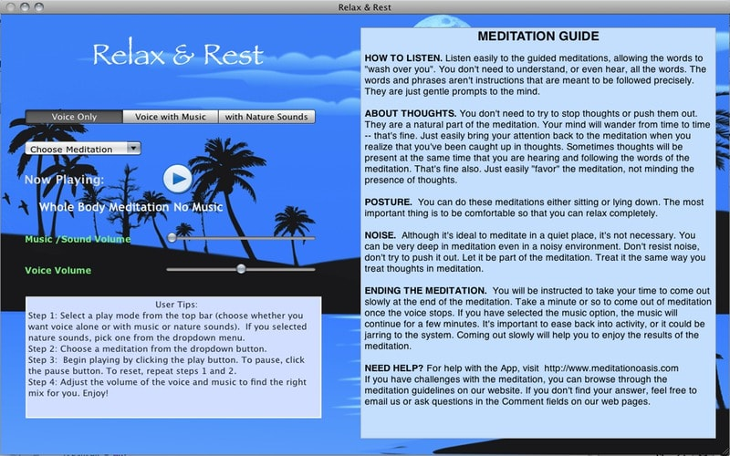 Relax and Rest Guided Meditations