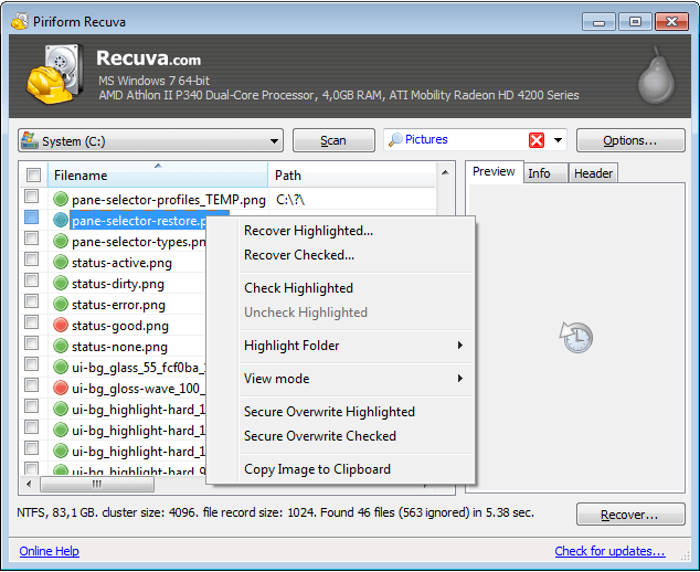 Recuva Recovery Software Get Back Data After Deleting From Recycle Bin  By Deep