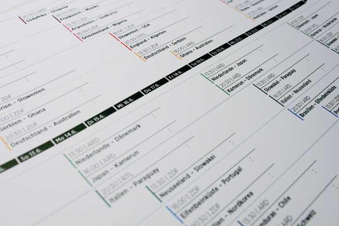 Spielplan FIFA WM Südafrika 2010