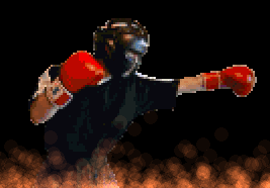実写でボクシング