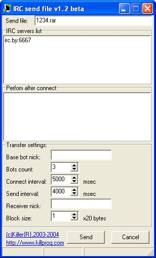 IRC File Transfer