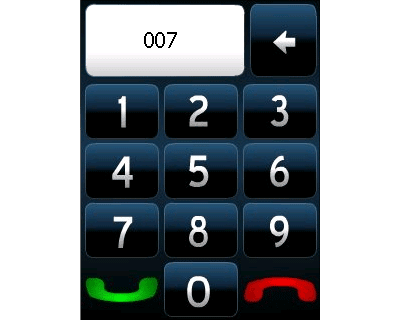 Full screen dialer