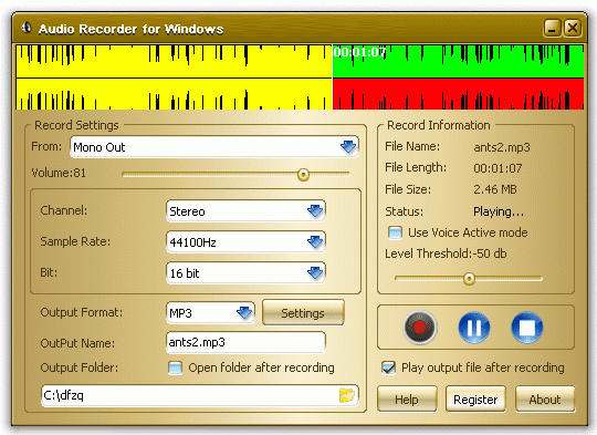 Audio Recorder for Windows
