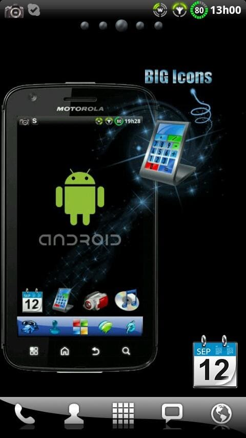 Tema windows 7 para go launcher ex para android descargar for Temas anime para android