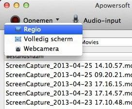 Apowersoft Screen Recorder voor Mac