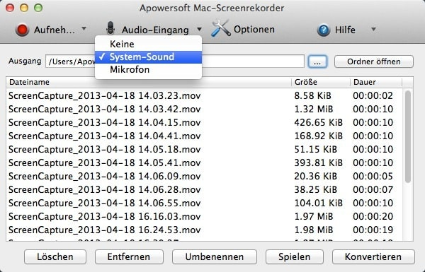 Apowersoft Mac-Screenrekorder